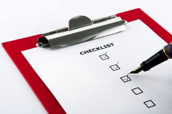 Accomplishment checklist