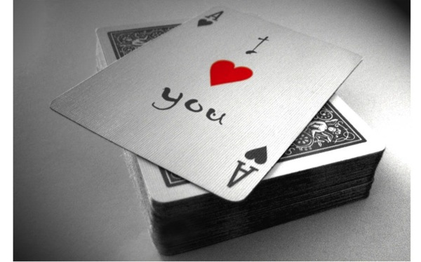I love you card wide